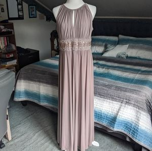 Dresses & Skirts - Taupe Beaded Bridesmaid/Prom Dress